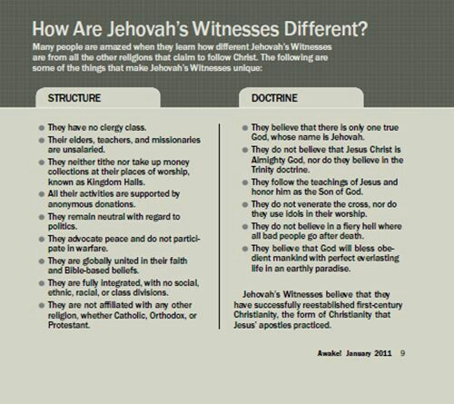 jehova witness rules