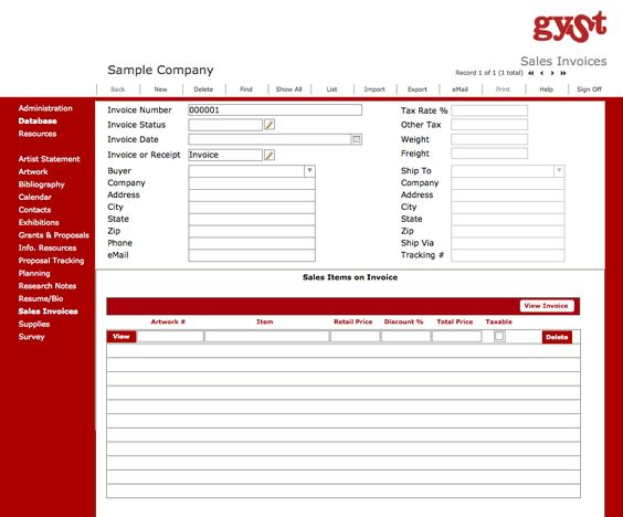 Art Business Software Create your own invoices and receipts for - invoice maker software