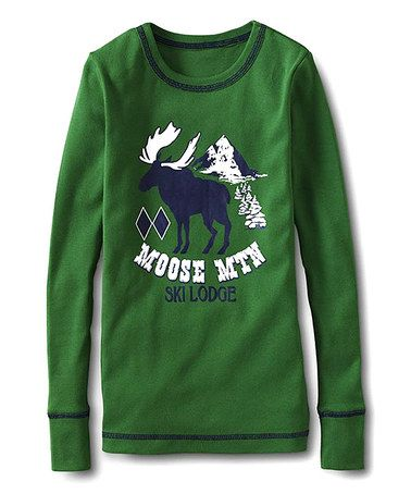 Another great find on #zulily! Green Hosta 'Moose Mtn' Pajama Top - Toddler & Boys #zulilyfinds