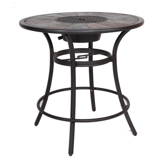 Safford 40 In W X 40 In L Round Aluminum Bar Table Patio Bar