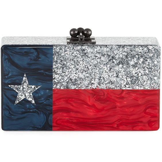 Edie Parker Jean Lone Star Clutch Bag (9.315 HRK) ❤ liked on Polyvore featuring bags, handbags, clutches, edie parker, silver, star purse, edie parker clutches, locking purse and edie parker handbags
