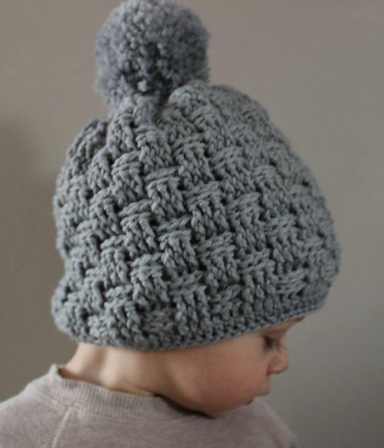 How To Make A Basket Weave Hat : Little basket weave hat pattern by julie lapalme