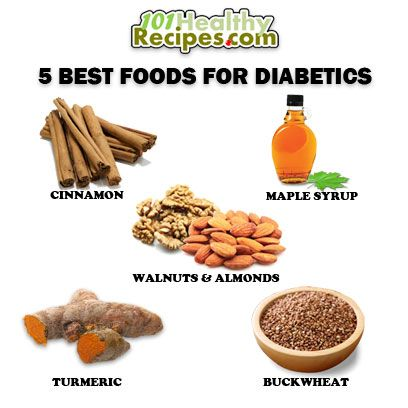 5 Best Foods for Diabetics 1. Cinnamon 2. Maple Syrup 3 ... Almonds And Diabetes