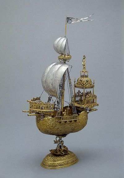 Gold and silver ship  17 century
