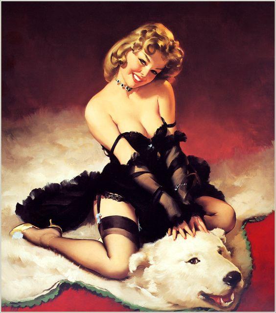 Bear Facts  (A Modest Look;  Bearback Rider)   1962  http://elvgrenpinup.com/  Buy Poster