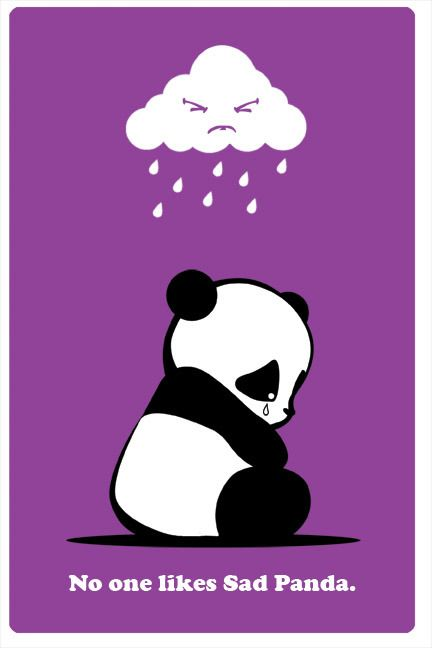 Sad Panda by ~ra3ndy on deviantART | We Heart It