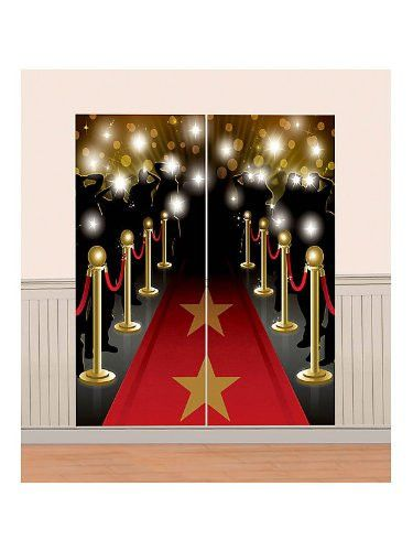 Hollywood Scene Setter Decoration Kit | 5ft - This Scene Setter is the perfect idea for your red carpet celebrity party. At over 5ft tall, the setter sets the theme for your party and doubles as a photo bac