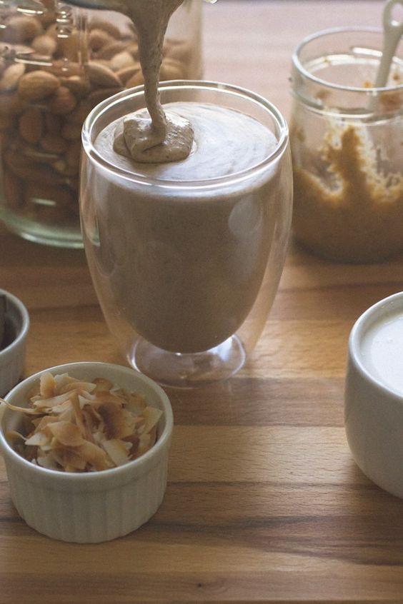 ... perspective: Almond Joy Smoothie + Milkshake (made with coconut milk