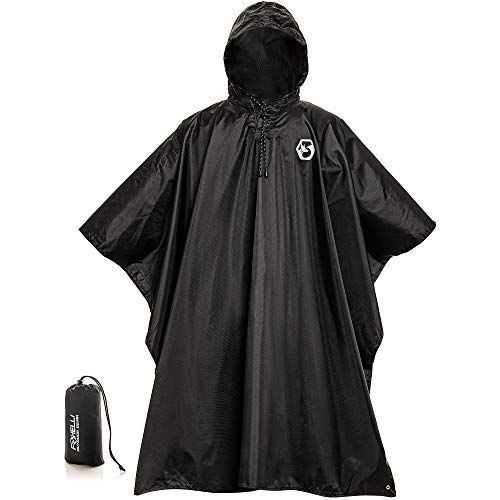 2x Children Emergency Rain Poncho w// Hood Raincoat Camping Hiking Travel Cover