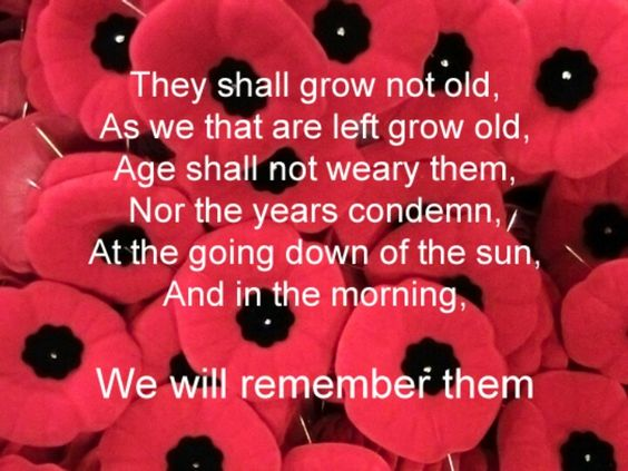 Image result for we remember them poem