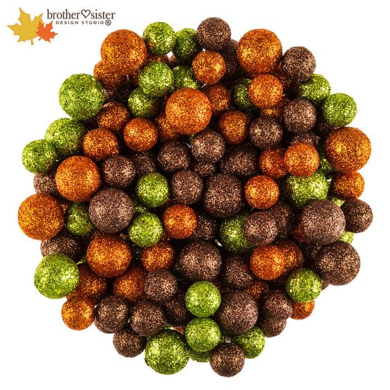 Orange Green Bronze Glitter Ball Filler Fall Home Decor Jar Fillers Decor Crafts
