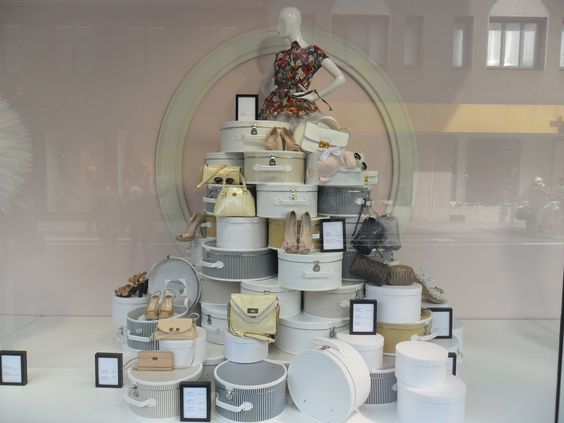 a tower of shoes, pinned by Ton van der Veer