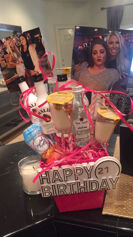 Liquor bouquet for my best friends 21st birthday birth for Gifts for men friends