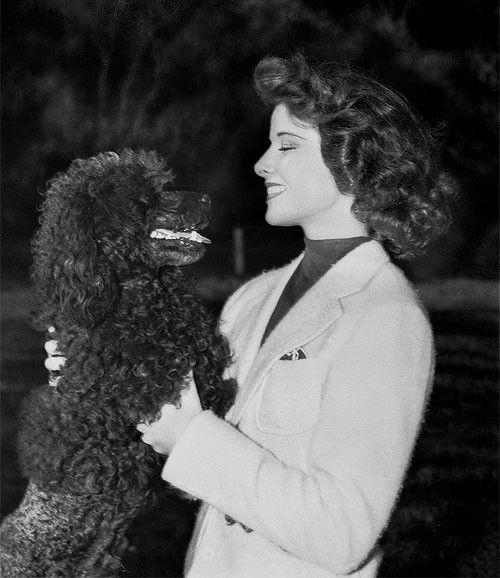 Katharine Hepburn and her dog Lobo
