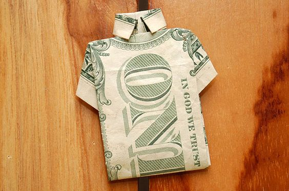 make a shirt out of a one dollar bill posts dollar