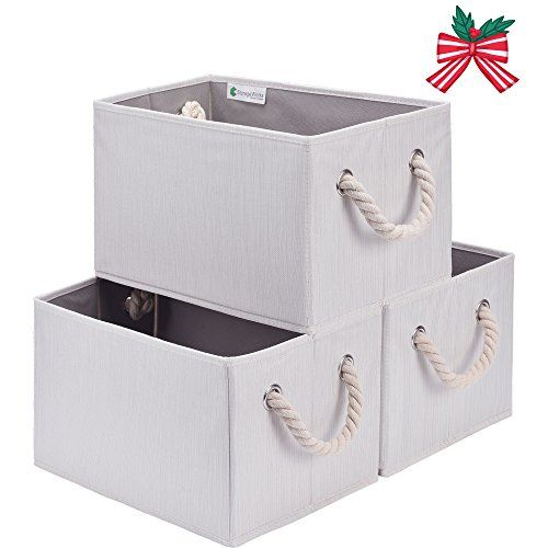 Storageworks Polyester Storage Bin With Strong Cotton Rop