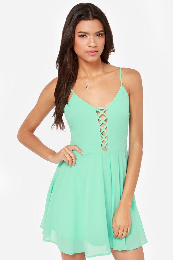 LuLu's.com | Lush Show Me Love Cutout Mint Green Dress Sexy ...