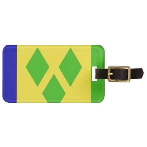 Saint Vincent And The Grenadines Flag Luggage Tag Zazzle Com Saint Vincent And The Grenadines Grenadines Luggage Tags