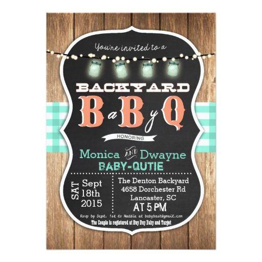 baby q babyq couples shower bbq invitation | baby shower, Baby shower invitations