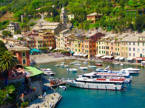 "Portofino - Italy  ""A small village, Portofino, stretches crescent-shaped along the edge of this calm bay."" Maupassant"
