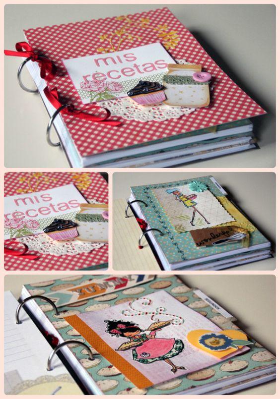 Preciosos recetarios llenos de color, sabor y texturas: http://www.teapartyfor3.com/cat%C3%A1logo-de-productos/diarios-cuadernos-y-recetario...