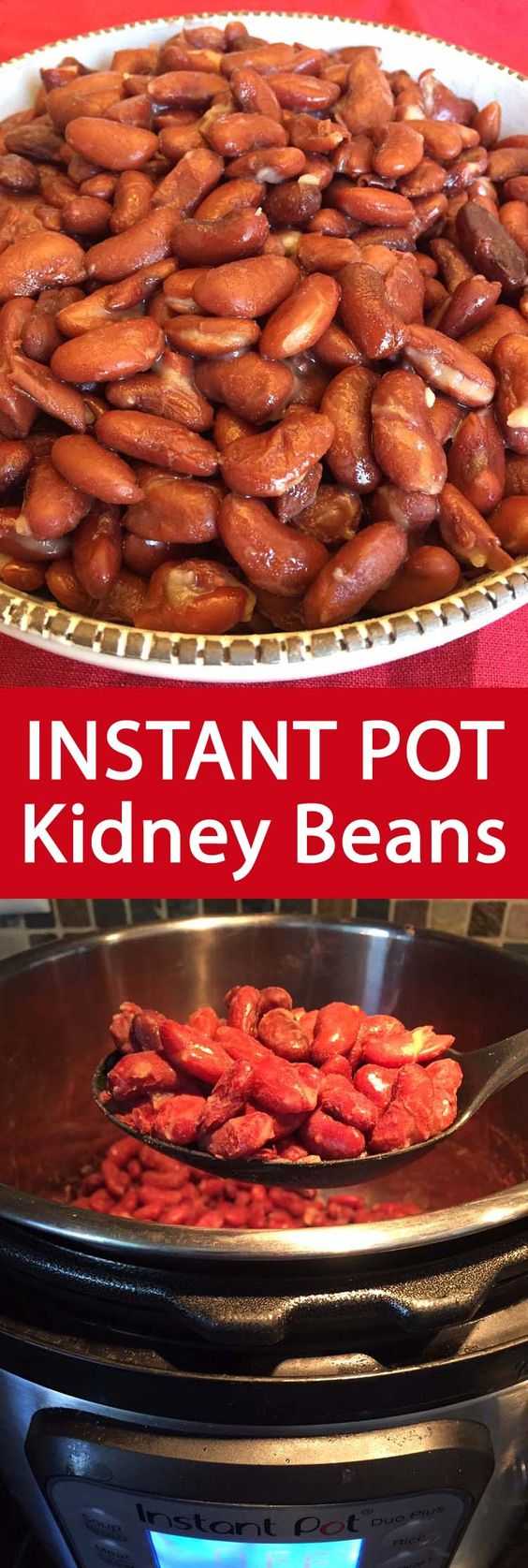 Instant Pot Red Kidney Beans