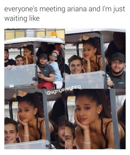 I WISH I COULD MEET ARIANA AND GO TO HER MEET AND GREETS
