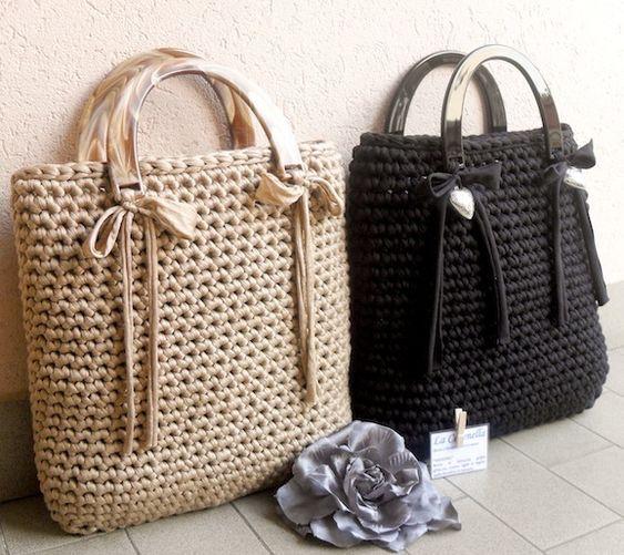 Ribbon Crochet Bag