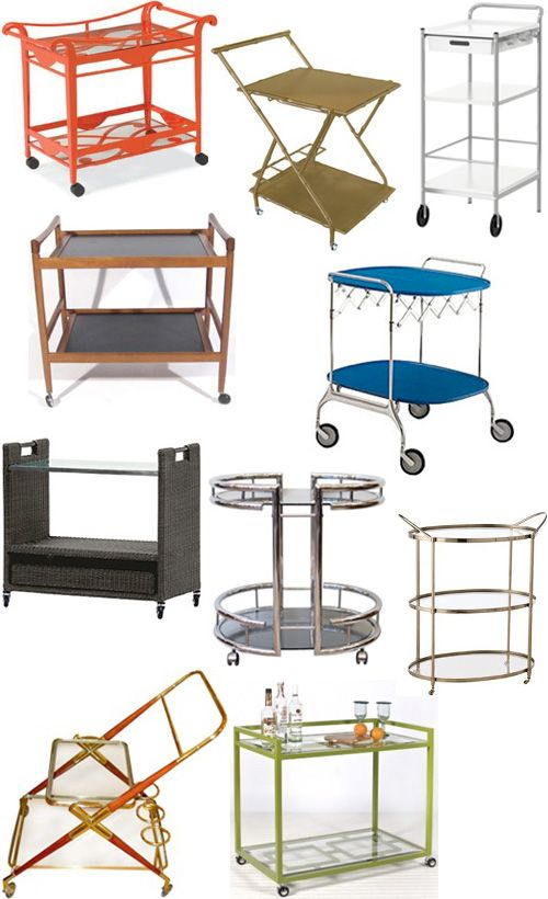 """Get the Look"" 9 of 40 Bars, Bar Carts, Trolleys."