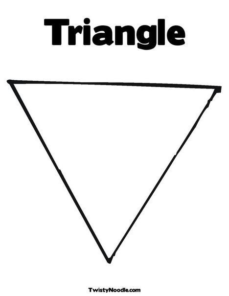 Triangle coloring page from preschool for Triangle coloring pages