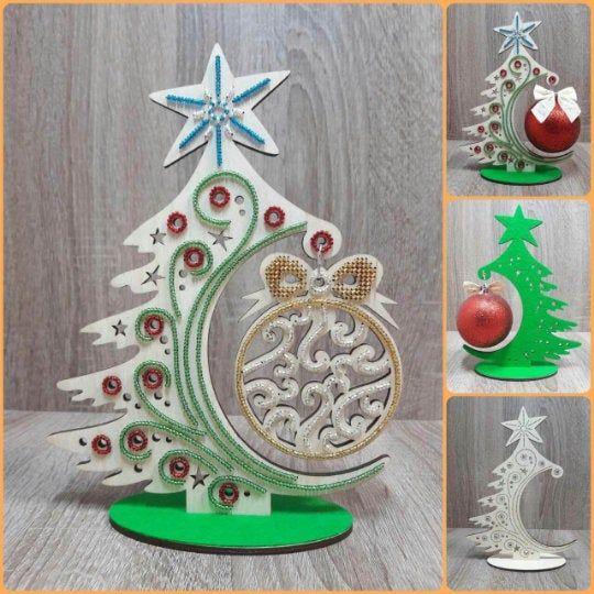 Christmas Tree Diy Kit Wood Christmas Ornaments Christmas Decorations Wooden Christmas Tree Min Wood Christmas Ornaments Diy Christmas Tree Mini Christmas Tree