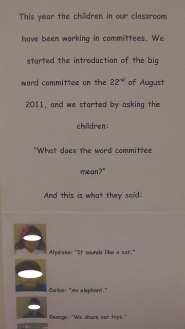 Children learning what a committee is all about.  More on blog.
