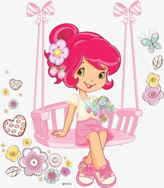 فتاة صغيرة يتأرجح Strawberry Shortcake Coloring Pages Strawberry Shortcake Pictures Strawberry Shortcake Cartoon