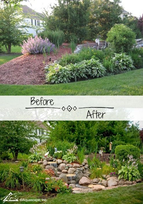 Backyard Transformations Before And After Water Features
