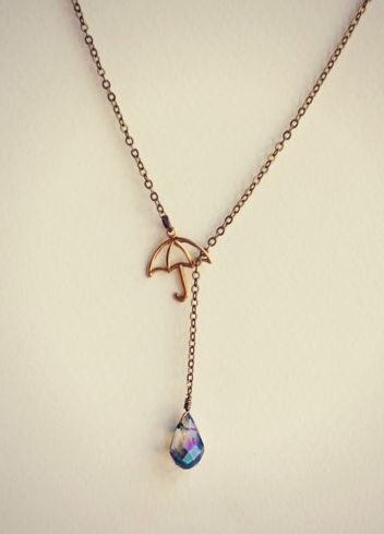 darling umbrella necklace