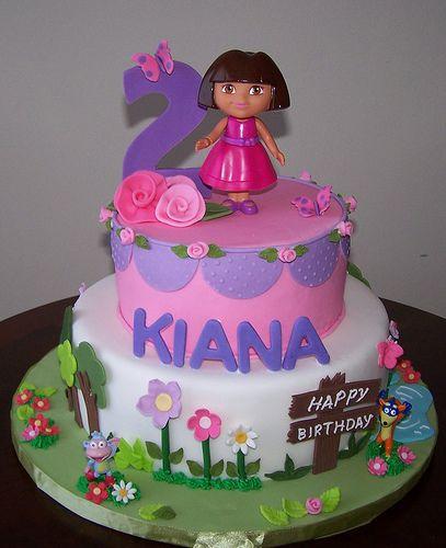 Cake Design Dora L Exploratrice : Dora cake, Dora birthday cake and Fondant birthday cakes ...