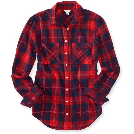 Aeropostale long sleeve plaid woven shirt found on for Purple plaid button up shirt