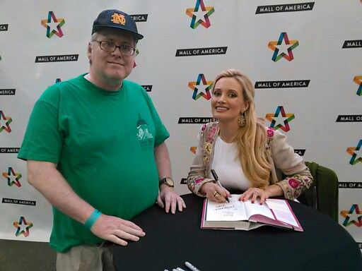 Me with Holly Madison at Mall of America.