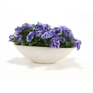 Silk Blue Pansies