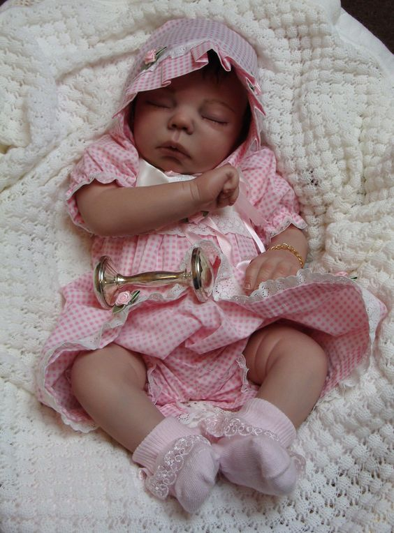Reborn Baby girl Avery...Anastasia kit by Dee Stastny...4lbs & 9oz's...18 inches...rooted hair..created by me...2013