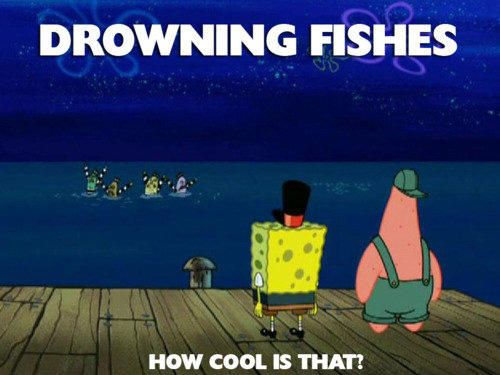 funny cartoon logic drowning fishes