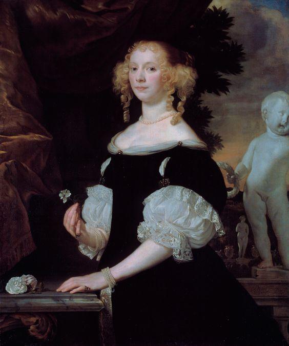 Abraham Lambertsz van den Tempel 1622-1672 Portrait of a woman. Pintor holandés del Siglo de Oro. Fue nombrado maestro de la Cofradía de San Lucas en 1657 y en 1659 fue chartermaster. En 1660 regresó a Amsterdam. Sus pupilos eran Frans van Mieris el Viejo, Carel de Moor, Michiel van Musscher, Ary de Vois e Isaac Paling