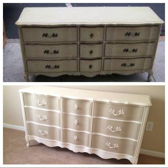 Two Tone Annie Sloan French Provincial 9 drawer dresser | Such LoveLeigh Design