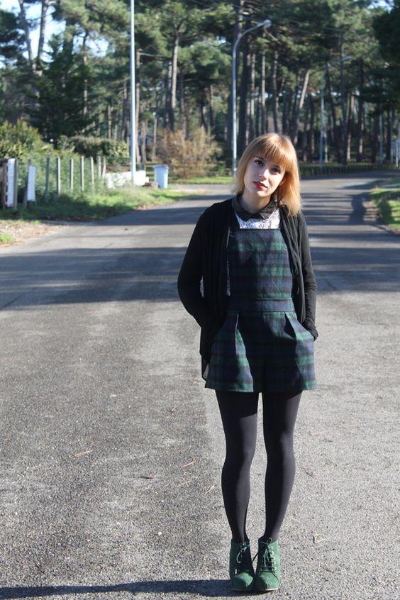 look combi short motif ecossais