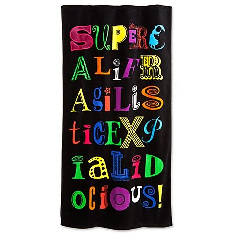 Mary Poppins: The Broadway Musical - Supercalifragilisticexpialidocious Towel