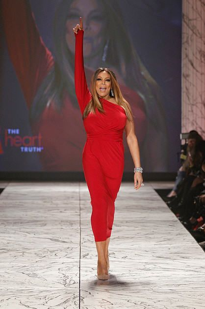 Wendy Williams in Norma Kamali: 2013 Red Dress Collection fashion show #ShowYourHeart