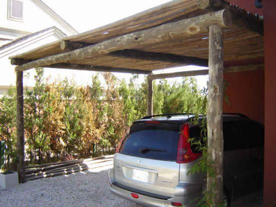 Pergolas de madera rustica buscar con google pergolas - Postes para pergolas ...