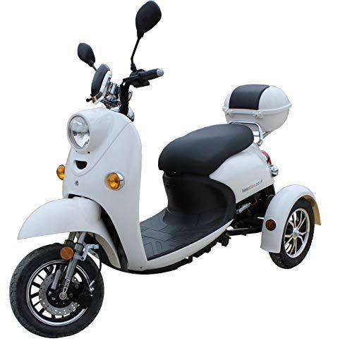 Stylisches Retro Vespa Dreirad Scooter Dreirad Elektrisches Dreirad Elektroroller