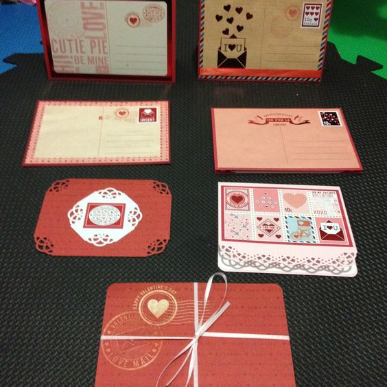 Handmade valentines day cards.
