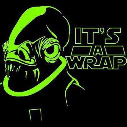 So I'm the big #nerd in the #family. But that doesn't stop me from trying on a #wrap during a #starwars #weekend when Momma's out of town! #itsatrap #itsawrap